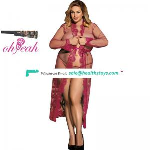 Plus Size Low MOQ Elegant Sexy Long Nightgown Lingerie