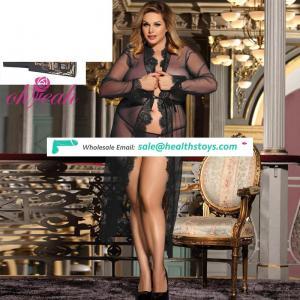 Plus Size Low MOQ High Quality Four Color Sexy Lingerie Peignoir For Fat Women