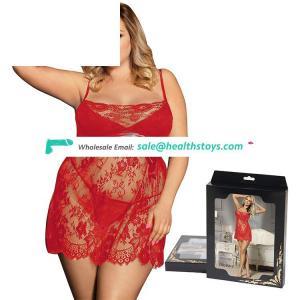 Plus Size Sexy Hot Fashion Women Babydoll Dress Transparent Lingerie