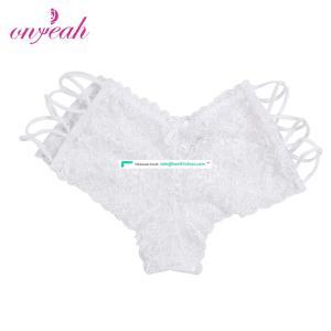 Plus Size White Lace Ladies Brand Names Indian Women Sexy Panty