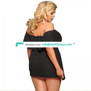 Plus Size Wholesale In Stock Sex Night Women Sleeping Dress Lingerie