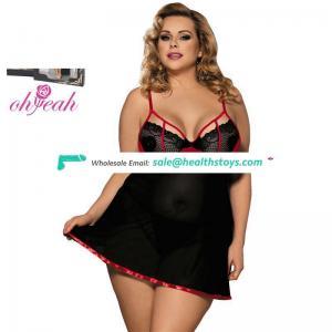 Plus Size Wholesale ODM Accept Latest Sexy Women  NightClothes 6XL Lingerie
