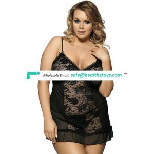 Plus size lady spicy transparent sexy hot sale lingerie for fat women