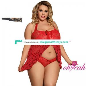 Plus size lovely bow young girls sexy babydoll lingeries