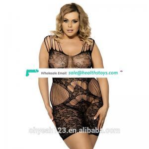 Plus size nylon bodystocking for fat lady