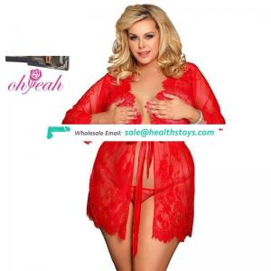 Plus size red eyelash lace samples sexy christmas lingerie