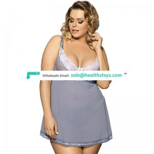 Plus size sexy babydoll adult nightwear