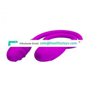Powerful 7 frequency vibrating two ended bullet clitoris vibrator