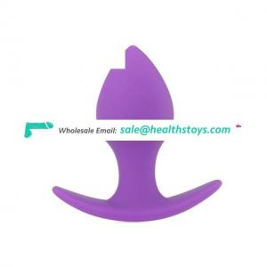 Purple Anal Toys Silicone Butt Plugs Toys Both For Women And Men Anal Plug Silicone Anal Toys