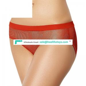 Red paypal transparent panty for women