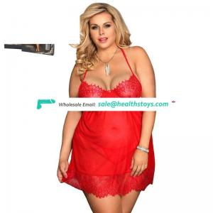 Red sexy night plus size babydoll dress sexy