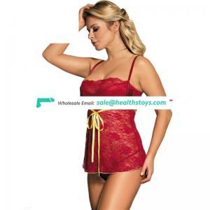Red short elastic high quality korean girls sexy lingerie