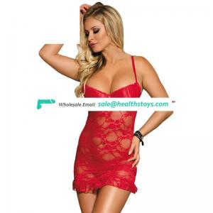 See Through Floral Lace Transparent Babydoll Lingerie