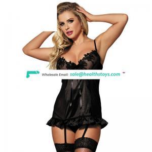 Seven sizes black women new sexy nighty design in stock