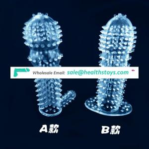 Sex Toy Realistic Big Soft Silicone Extension Enlargment Crystal Condom Penis Sleeve