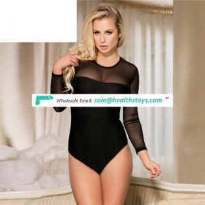 Sexy Long Sleeve Black Lace Wholesale New Arrival Spandex Bodysuit