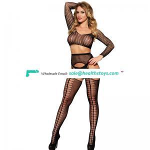 Sexy women pantyhose long sleeve bodystocking