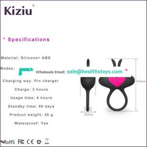 Silicone Adjustable Vibrating Cock Ring Waterproof Sex Toy for Man Multi Speed Penis Ring Picture Vibrator USB Rechargeable
