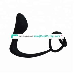 Silicone Double Loop Anal Plug Adult Erotic Male Prostate Massager Sex Toy