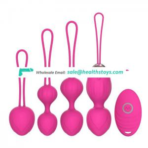 Silicone Vagina Exercises Woman Sex Toys Remote Control Eggs Vibrator Set Vibrating Kegel set