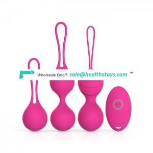 Silicone Vagina Exercises Woman Sex Toys Remote Control Eggs Vibrator Vibrating Kegel balls set