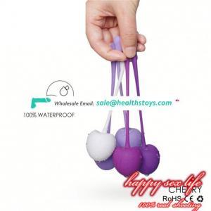 Silicone koro ball vagina exercise massager love balls for vagina dumbbell
