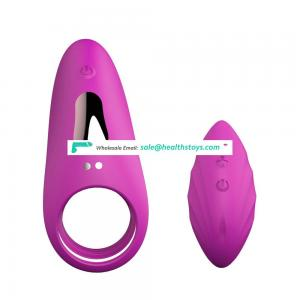 Single Motor Silicone Vibrating Penis Cock Ring