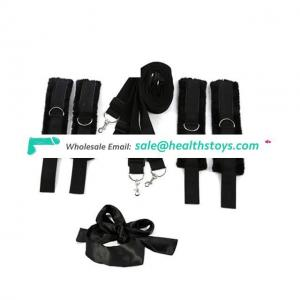 Soft Medeical Bed Restraints System, Adjustable Under The Bed With Cuffs For Ankle And Wrists