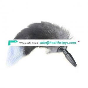 Soft Wild Fox Tail Stainless Steel Anal Plug Butt for Women Suppositories Cospaly
