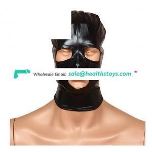 Spandex Fetish Hood Mask Head Harness Blindfold Mask Mouth Gag Bondage Hood For Couple