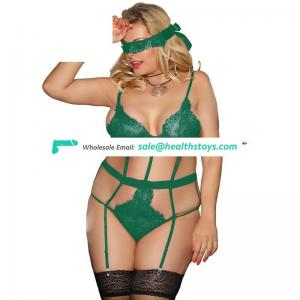 Spciy Hot Selling Fashion Green Lace Mature Can ODM Woman Teddy Underwear