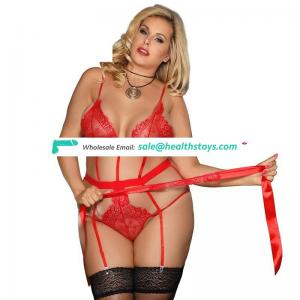Spciy Paypal Accept Plus Size Love Affair Red Lace Women Teddy Lingerie