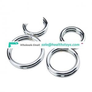Stainless Steel Enhence Ring Testes Metal Ball Stretcher for Men