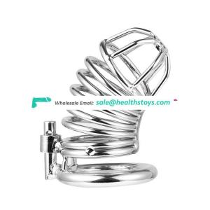 Stainless Steel Metal Cock Lock Cage Male Chastity Device Sex Toy