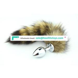 Stainless Steel Metal Fetish Anal Sex Toy Fox Tail Butt Plug