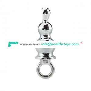 Stainless Steel Prostate Massage Butt Plug Heavy Anus Beads With 3 Balls