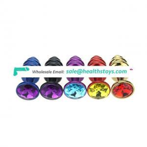 Stainless Steel Round Diamond Shape Jewelry Buttplug Anal Plug
