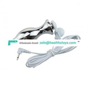 Stimulate Electric Shock Anal Plug Vibrating Massager Toys
