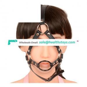 Strap On Leather Open Mouth Gag Oral Fetish Slave Bondage Restraints