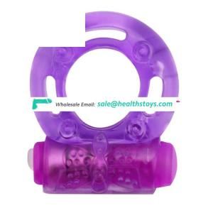 Stretchy Rubber Silicone One Speed Standard Vibrating Penis Ring