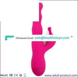 Touch Control Powerful Double Motor Waterproof Silicone G Spot Vibrator Multi Speed Dildo Style Rabbit Vibrator