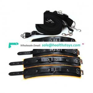 Under Bed Restraints Bondage with Adjustable Handcuffs Foot Cuffs Fit Almost Under Mattress Restraints Kits