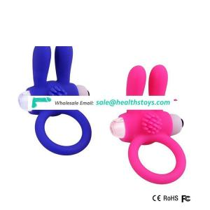 Vibrate Delay Premature Ejaculation Penis Lock Silicon Cock Ring Adult Sex Toy for Man