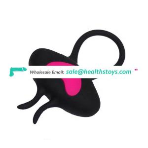 Waterproof Silicone Sex Toy Cock Ring Vibrator USB Rechargeable Adult Vibrator