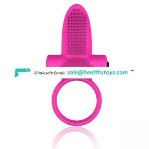 Waterproof Soft Silicone Penis Lock Vibration for Man And Couples Vibrating Cock Ring