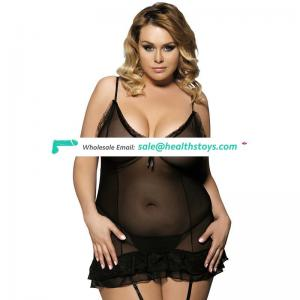 Whole sale plus size see through sexy babydoll