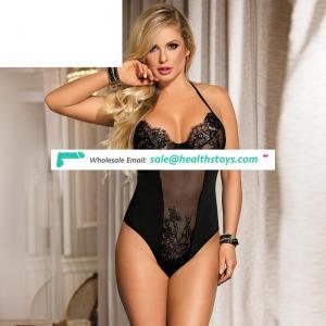 Wholesale  ladies latex black sexy babydoll teddy lingerie