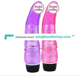 Wholesale ABS Vibrator TPE Dildo Vibrating Penis Shock Factory Cheap Price Sex Toys For Female Masturbation