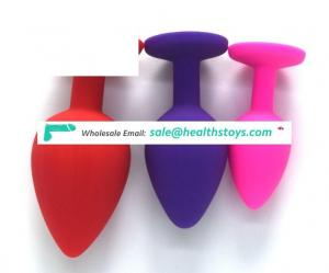 Wholesale Anal Butt Plug Sex Toys Cheap Price For ASS Large Size Silicone Adult Toys