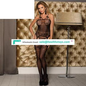 Wholesale Black  Cheap Sexy Girl Fishnet Black Bodystocking
